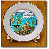 Vegetarian Pirhanas - 8 Inch Porcelain Plate