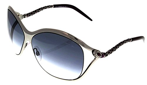 Roberto Cavalli Sunglasses Womens RC450 14B Silver Purple Crystals