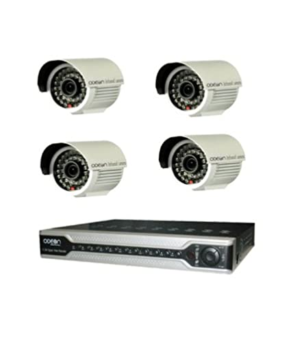 Odeon 4 Channel DVR + 4 ( 600 TVL) Bullet IR Cameras