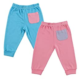 Hudson Baby Pants 2-Pack, Pink, 6-9 Months