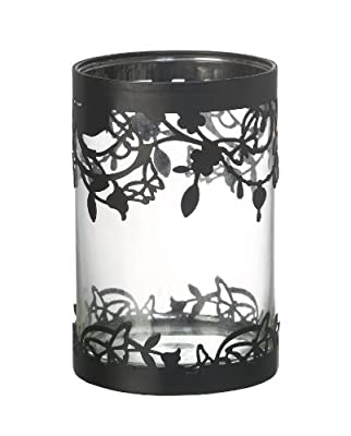 Very Pretty Butterfly Flowers Hurricane Candle Holder from Parlane International