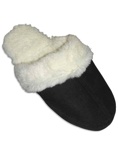 Cheap Goldtoe – Ladies Slipper, Black, Winter White 27625 (B0064DS0EU)