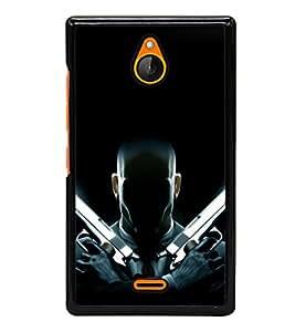 printtech Hitman Codename 47 Gun Back Case Cover for Nokia X2 Dual SIM