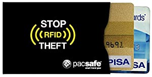 Pacsafe RFID 25 Credit Card Sleeve - Black