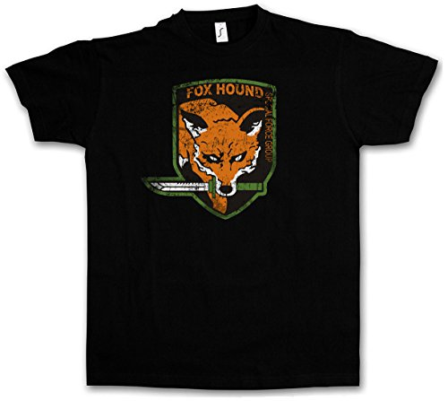 FOXHOUND LOGO T-SHIRT - Symbol Insignia Big Boss Metal Gear PC Game Solid Fox Hound Snake Taglie S - 5XL