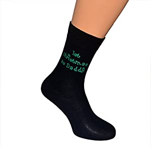 Black Christmas Socks 1st Christmas as Daddy in Green Mens Gift for New Dad