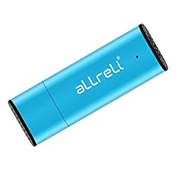 aLLreLi CP00341 2-in-1 8GB Mini USB Voice Recorder [Blue] - Portable Rechargeable Digital Spy Dictaphone & USB 2.0 Flash Drive for Recording Interviews, Meetings and Students Learning