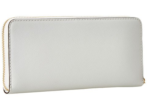 MICHAEL Michael Kors Michael Kors JS Stud Degrade Zip Around Continental White Leather Wallet