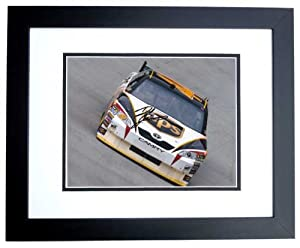 Dale Jarrett Autographed Hand Signed UPS Nascar 8x10 Photo - BLACK CUSTOM FRAME by Real Deal Memorabilia