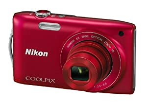 Nikon COOLPIX S3300 Compact Digital Camera - Red (16MP, 6x Optical Zoom) 2.7 inch LCD