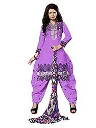 NK New Purple Semi Stitch Salwar Suit With Dupatta