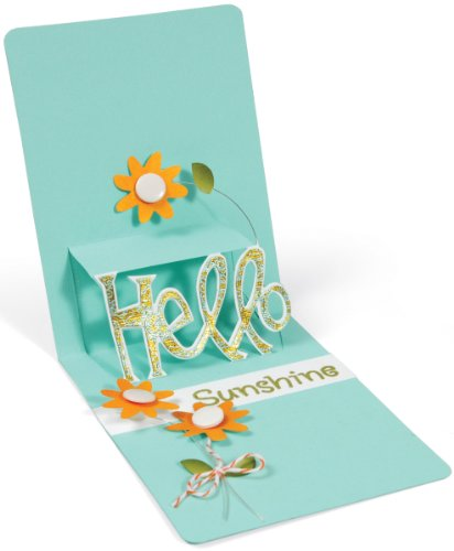 Sizzix Pop 'n Cuts Magnetic Insert Die - Phrase, Hello 3-D (Pop-Up) by Karen Burniston (Pop N Cuts Inserts compare prices)