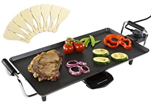 Andrew James Electric Teppanyaki Barbecue Table Grill Griddle 2000 Watts, Includes 2 Year Warranty And 8 Spatulas