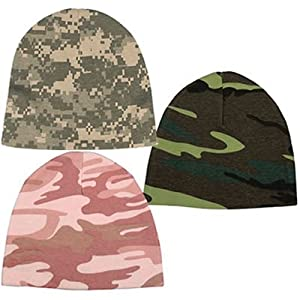 Infant Crib Caps Woodland Pink Army ACU Digital Camouflage - Pink Camo