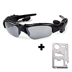 Mobilegear Bluetooth Sunglasses Headset for Bicyclist and Motorist - Free Pocket Survival Tool