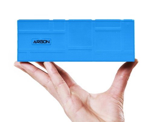 Argon® Bluetooth Wireless Portable Stereo 2Ch Speaker For All Iphone, Ipod, Ipad, Blackberry, Android Smartphones And Mp3 Players. Rechargeable Built-In Battery [Blue]
