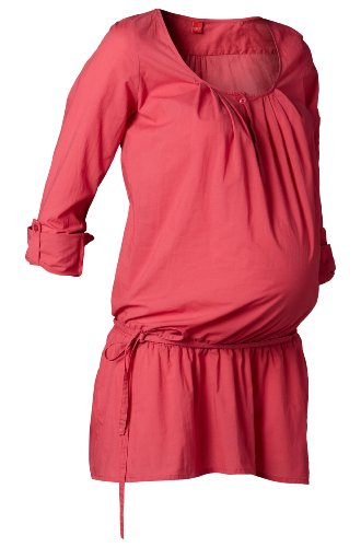 Esprit Maternity  Women's H84305 Tunic Maternity Blouse Red (Raspberry 640) 42