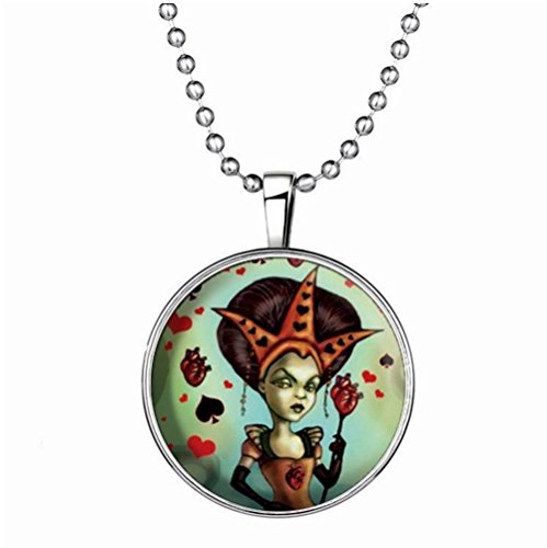 Winter's Secret Witch Pattern European and American Popular Halloween Glow Round Pendant Necklace (Ny Giants Tie Clip compare prices)