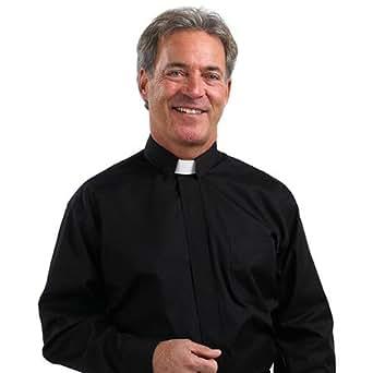 Men's Tab Collar Clergy Shirt Black 19-19 1/2 36-37