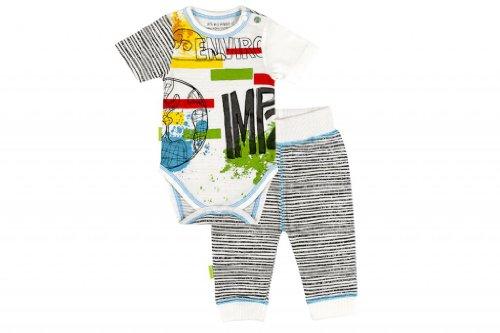 Kushies Organic Baby Boys' It'S My Planet 2 Emerald Jungle Short Sleeve Bodysuit & Pant Set Preemie Multicolored