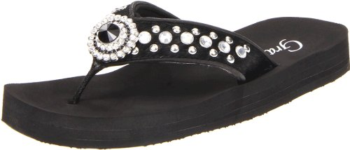 Grazie Women'S Bay Platform Sandal,Black,7 B Us back-583537