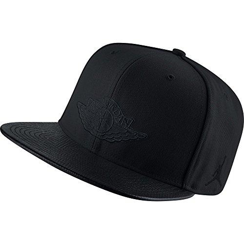 Nike 2 Snapback-Cappellino Linea Michael Jordan unisex, Unisex, Negro (Black/Black)