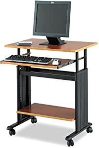 "Safco Products Muv 28"" Adjustable Height Computer Workstation, Cherry, 1925CY"