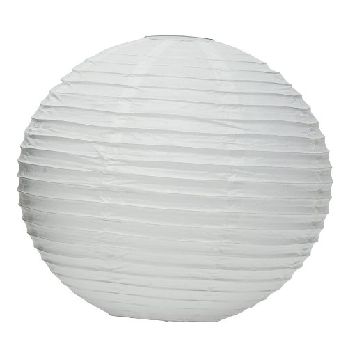 "Weddingstar Round Paper Lantern, 20"", White"