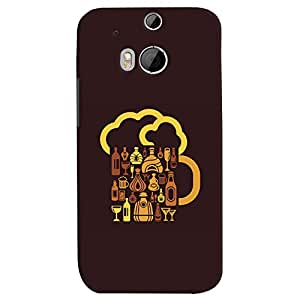 ColourCrust HTC One M8 Mobile Phone Back Cover With Abstract Art - Durable Matte Finish Hard Plastic Slim Case