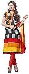The Desi Attire Women's Bhagalpuri Silk Unsticthed Dress Material (2001_Black_40)