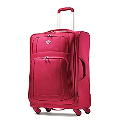 American Tourister Luggage Ilite Supreme 25 Inch Spinner Suitcase, Honeysuckle, 25 Inch