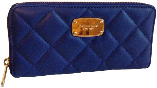 Michael Kors Hamilton Quilt Genuine Leather Za Continental Cadet Blue
