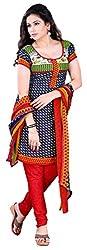 Swaman Women's Multicolor Synthetic Dress Material(0729LAD00017,Multicolor)