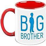 HomeSoGood Big Brother White Ceramic Coffee Mugs - 325 Ml