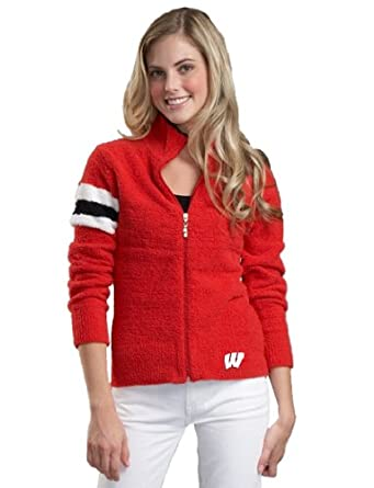 NCAA Wisconsin Badgers Kashwere U Motorcycle Jacket by Kashwere U