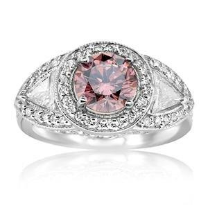 Amazon.com: 2.70 Ct Pink Diamond Engagement Ring: Jewelry