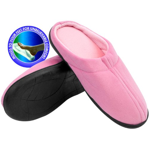 Cheap RemedyT Pink Memory Foam Slippers – Medium – Home and Garden Remedy Memory Foam (B005VLNBUO)