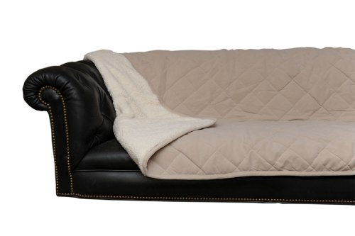 CPC Diamond Quilted Microfiber Sherpa Pet Throw,