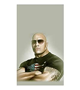 printtech WWE Bull The Rock Back Case Cover for Samsung Galaxy Note i9220::Samsung Galaxy Note 1 N7000