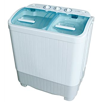 Good Ideas Portable Mini Twin Tub Washing Machine 3.5kg Capacity with Spin Dryer (889) Ideal for Caravans or Small Spaces.