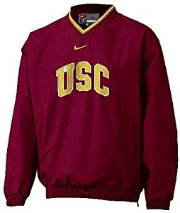 USC Trojans V-Neck College Windshirt By Nike Team Sports by Nike