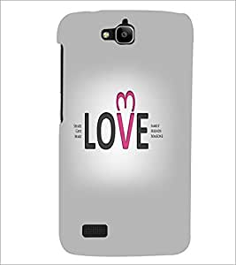PrintDhaba Quote D-5546 Back Case Cover for HUAWEI HONOR HOLLY (Multi-Coloured)