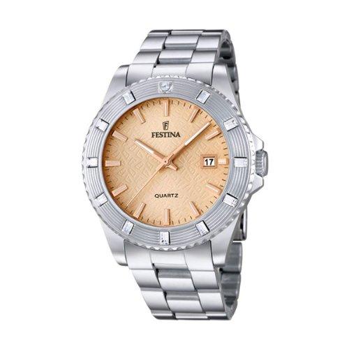 Festina F16689/2 - Reloj de pulsera mujer, acero inoxidable, color plateado