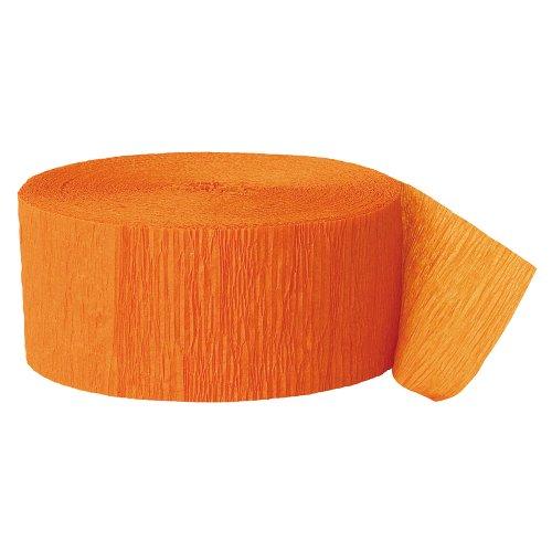 Party Streamer, 500-Feet, Orange