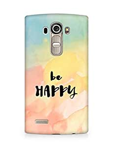 AMEZ be happy Back Cover For LG G4