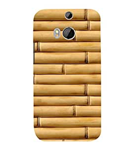 EPICCASE Bamboo wall Mobile Back Case Cover For HTC One M8 (Designer Case)