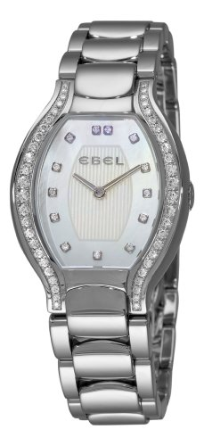 Ebel Women's 9956P38/1991050 Beluga Tonneau Mother-Of-Pearl Diamond Dial Watch