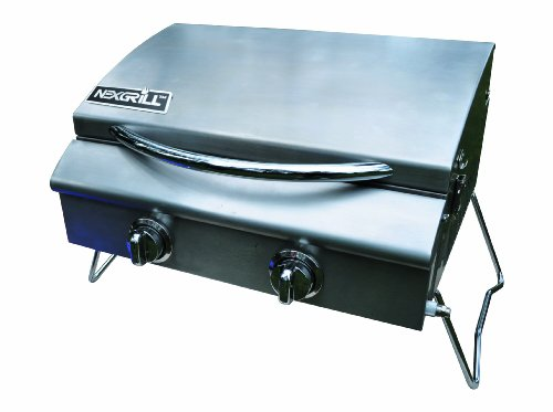 Nexgrill 820-0015 2 Burner Table Top Gas Grill With Tank Regulator