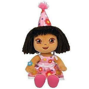 TY Beanie Baby Birthday Dora