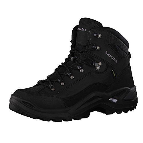 LOWA Renegade GTX Mid Outdoor Schuhe schwarz-schwarz - 46,5